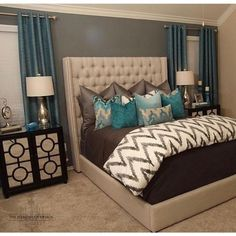 Master bedroom decor, A fantastic trick for decorating a small space look larger would be to add mirrors. Mirrors are good for setting up a room look bigger and much better.Purchase a beautiful mirror for the interior design project. Dream Rooms, Dream Bedroom, Home Bedroom, Bedroom Ideas, Bedroom Colors, Bedroom Inspiration, Bedroom Designs, Bedroom Wall, Purple Master Bedroom