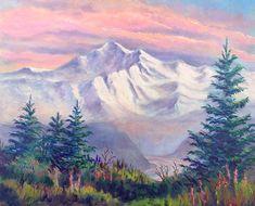 Denali Alpenglow. oil painting by Teresa Ascone