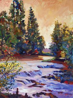 Running Stream Print By David Lloyd Glover