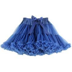 Buenos Ninos Women's Chiffon Petticoat 2 Layered Ballet Dance... ($22) ❤ liked on Polyvore featuring skirts, mini skirts, layered chiffon skirt, short blue skirt, petticoat skirt, wide skirt and double layer chiffon skirt