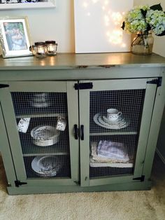 A cute clever way to use hardware to make your kitchen storage more rustic looking.