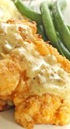 Chicken Fried Chicken with Homemade County Gravy ~ Perfectly crisp on the outside and tender on the inside
