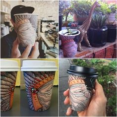 Don't wait, caffeinate! #biocupartseries Cup Art, Caffeine, Mason Jars, Instagram Posts, Paper, Mason Jar, Glass Jars, Jars