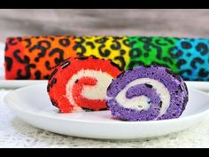 RAINBOW LEOPARD CAKE ROLL