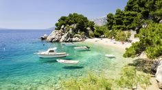 Podrace Beach In Brela, Croatia - Best Beaches Europe In images ideas from All About Beach Best Beaches In Europe, Beaches In The World, Visit Croatia, Croatia Travel, Amazing Destinations, Vacation Destinations, Holiday Flights, Most Beautiful Beaches, Beach Fun