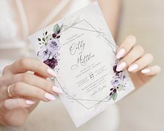 Lavender Wedding Invitations, Bohemian Wedding Invitations, Printable Wedding Invitations, Safari, Sign Templates, Printable Templates, Seating Chart Wedding, Reception Card, Wedding Programs