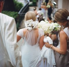 gorgeous gown + orchids | A Bryan Photo #wedding
