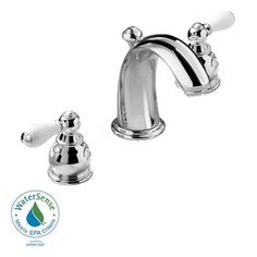 American Standard 7881.712.002 Hampton Widespread Bathroom Faucet with Porcelain Lever Handles, Polished Chrome American Standard http://smile.amazon.com/dp/B00BR34OII/ref=cm_sw_r_pi_dp_3l9Yub1MYAJ3Q
