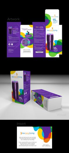 Design #23 by dz+ | Create an awesome box and insert for LovEasyLiving Travel Mug