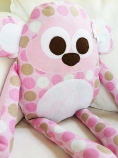 Toy Sewing Pattern  Monkey Pillow  PDF por GandGPatterns en Etsy