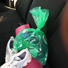 Put gym clothes in an OdorNo bag so your car won't smell!