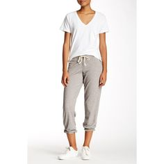C & C California Kelly Slouch Sweatpant ($40) ❤ liked on Polyvore featuring activewear, activewear pants, h grey, slouchy sweatpants, gray sweatpants, c&c california, drawstring sweatpants and grey sweat pants