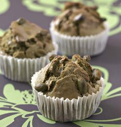 Photo de la recette : Muffins aux pistaches et thé vert matcha