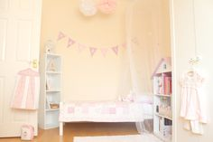 Half of Amelias new toddler room. I went for a princess/shabby chic theme