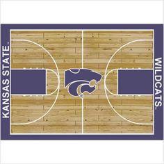 "College Court Kansas State Wildcats Rug Size: 10' 9""x13' 2"" $718.80"