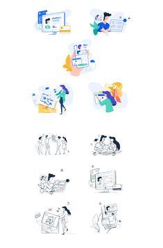 Website Illustration, Flat Design Illustration, People Illustration, Illustration Sketches, Illustrations And Posters, Character Illustration, Digital Illustration, Graphic Illustration, Web Design