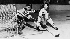 Beliveau scores three goals in 44 seconds for Canadiens National Hockey League, Toronto Maple Leafs, Montreal Canadiens, Boston Bruins, Hockey Players, Athlete, The 100, The Past, Goals