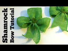 Dollar Store Crafts » Blog Archive » Tutorial: Easy Shamrock Bow