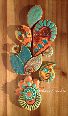 Fall - Abstract Paisley - Fernwood Cookie#icingcookies#sugarcookies #アイシングクッキー