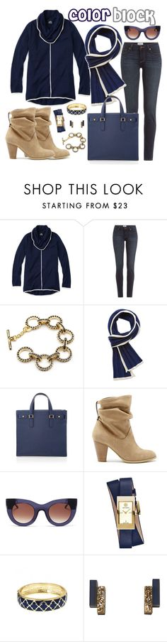 """""""Navy & White Color Block"""" by slaterzorn ❤ liked on Polyvore featuring Slater Zorn, Paige Denim, White House Black Market, Sole Society, Thierry Lasry, Tory Burch, Fornash, Wolf & Moon, women's clothing and women"""