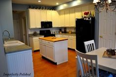 Concrete countertops- LOVE this blog.Period. I especially love that they revamped their kitchen for under 1000.00!