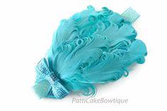 Baby Headband Two Tone Aqua & Turquoise by PattiCakeBowtique, $12.95