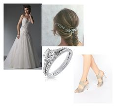 """wedding"" by hyena-tasia ❤ liked on Polyvore featuring Maggie Sottero, Bling Jewelry and Faith"