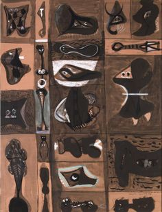 Adolph Gottlieb (American, 1903-1974), Untitled (Pictograph), 1949-50. Gouache on paper, 25 ½ x 19 ¼ in.