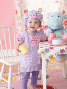 Daisy Tunic Set | Free  Crochet Patterns | Yarnspirations