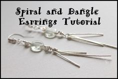 Spiral and Dangle Earrings Tutorial #howtomakeearrings #jewelrymaking #diy http://kimberliekohler.com/5713/spiral-and-dangle-earrings-tutorial/