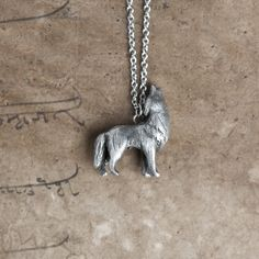 Just as we were falling asleep on our last night visiting my mom last week, I heard them sing in the distance. Incredible. :: Le Intuitive Wolf Totem Necklace