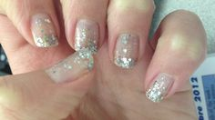 My nails today. Sort of ombré glitter nails I guess :-) Nail polish from Essie