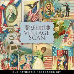Far Far Hill: Freebies Vintage Postсard Kit