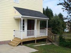 Side porch idea: I like how the railing doubles as a fence gate.