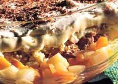 Quick Trifle recipe from Food in a Minute Honey Recipes, Old Recipes, Sweet Recipes, Baking Recipes, Food In A Minute, Cook Up A Storm, Trifle Recipe, Home Food, Looks Yummy
