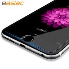[2-Pack] Bastec HD Clear Film Protector 0.26mm 2.5D borde Curvo de Cristal Templado protector de pantalla para iphone 7 6 6 s más 5 5S sí