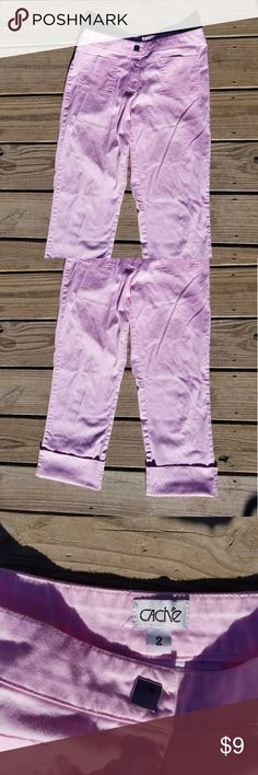 Cache pink capris size 2 Cache pink capris, size 2.  Gently used, very good condition.  Neat detail on back pockets. Cache Pants Capris
