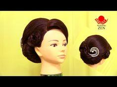 【かぶせアップスタイル2】夜会巻き風 ZENのヘアセット37 - YouTube