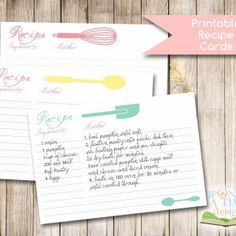 Printable-Recipe-Cards-Display