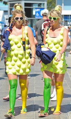 Having a ball(s!) at the 2013 Australian Open. #tennis #ausopen - No. 1 in the worst costume contest.