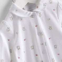 Girls Owl Collared Sleepsuit AW 2015 http://www.parentideal.co.uk/the-white-company---baby-girls-clothing.html