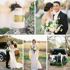 A 1920s Wedding Inspiration Shoot With Downton Abbey Style Elegance Art Deco Theme