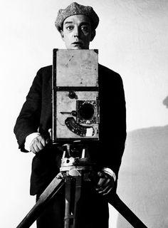 Buster Keaton and camera via @FilmmakerIQ