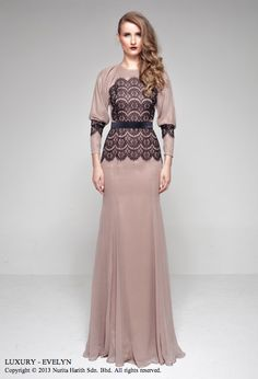 A lace top piece by Nurita Harith