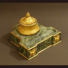 Important Bronze and Marble Inkwell XIXth Louis XVI Directoire Style