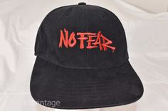 Vintage 1990's Made USA No Fear Black Red 6 Panel Snapback Hat Baseball Cap | Clothing, Shoes & Accessories, Women's Accessories, Hats | eBay!