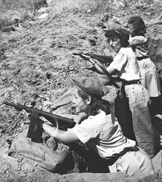 Female members of Haganah fighting in the war of '48.