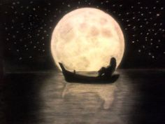 pencil drawings moon drawing charcoal pretty simple creative ed