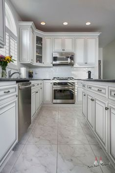 Actually, we love a stylish black and white kitchen design any day of the week. Learn more about the timeless tuxedo style of black and white kitchens here! White Kitchens, Beautiful Kitchens, Tuxedo, Tuesday, Kitchen Design, Kitchen Cabinets, Black And White, Stylish, Home Decor