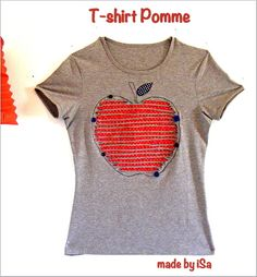 Tuto Customisation T-shirt pour ma pomme - made by iSa
